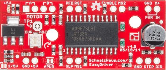 +USA EasyDriver V4.4 Shield Stepper Motor Driver A3967 Arduino +3 PCS